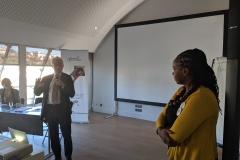 Peter Sands and Rosemary Mburu